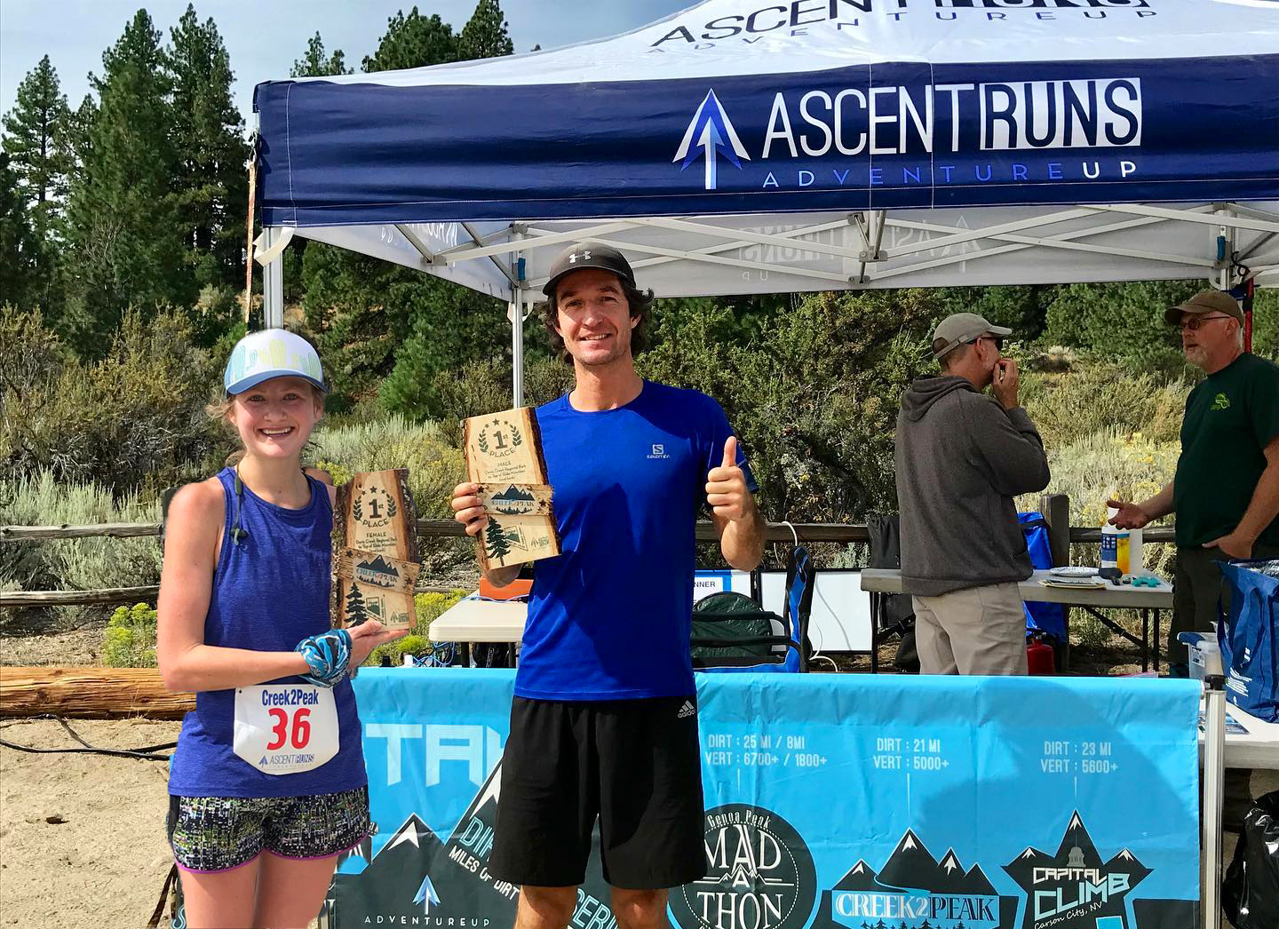Lauren Williams and Brannon Forrester, winners of Creek2Peak